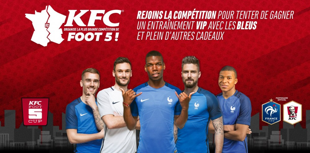 KFC FRANCE S'ENGAGE DANS LE FOOT A 5