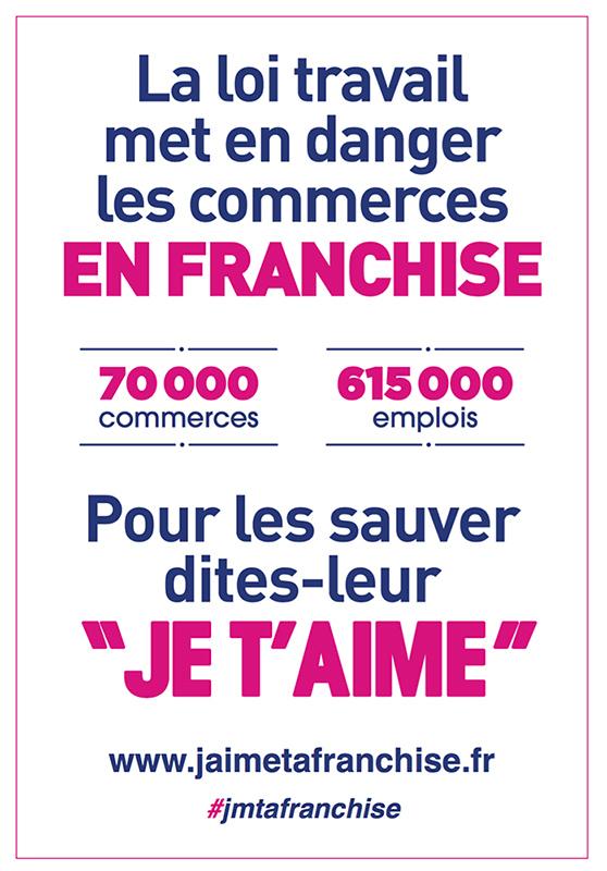 Affiche de la campagne anti loi EL KOMRI franchise