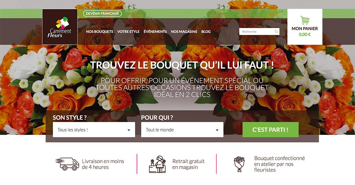 Site Internet de Carrément Fleurs