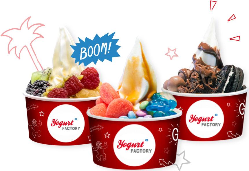 Les produits Yogurt Factory